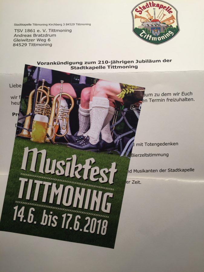 Juni 2018: Stadtkapelle feiert 210 Jahre! @ Tittmoning | Tittmoning | Bayern | Deutschland
