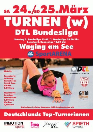 Kunstturnen: Am 24. März Bundesliga schauen! @ Waging a. See